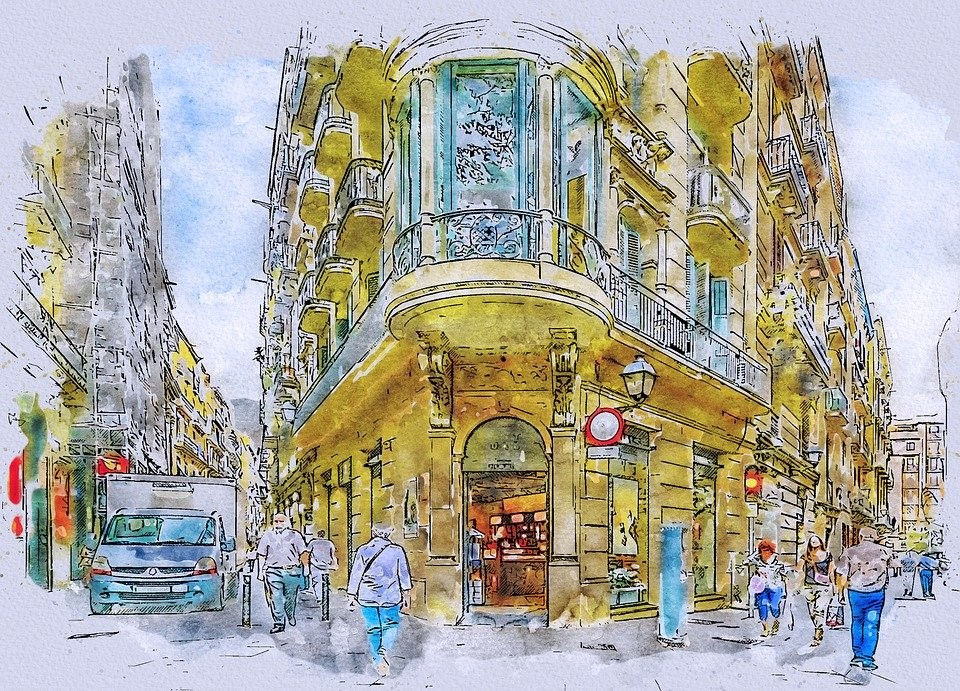 Barcelona, Calle, Gótico, Trimestre, España